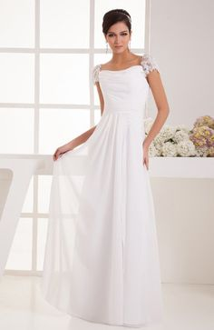 with Sleeves Sweet 16 Dress Simple Plain Chiffon Autumn Formal Semi Formal