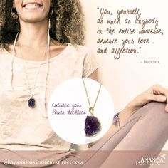 Give yourself some love this Monday morning!!! You are magic and the more you love yourself the more of your beautiful presence will shine in this world! Embrace your power necklace available at http://www.anandasoulcreations.com/product/embrace-your-power-necklace-amethyst-gold-vermeil/ #power #shine #love #embrace #amethyst #bali #jewelry #blessed