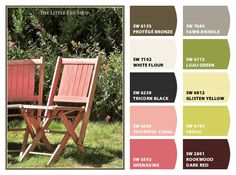 Photo by: The Little Red Shop, Paint color ideas from Chip It! by Sherwin-Williams #chipit