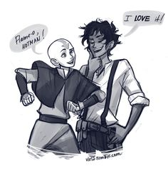 Leo and Aang - ATLA-Percy Jackson crossover by viria Percy Jackson Fandom, Percy Jackson Serie, Percy Jackson Crossover, Percy Jackson Fan Art, Percy Jackson Memes, Percy Jackson Books, Leo Valdez, Avatar Aang, Avatar The Last Airbender