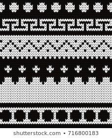 Knitted abstract seamless pattern Punto Fair Isle, Tejido Fair Isle, Knitting Stiches, Knitting Patterns, Fair Isle Pattern, Fair Isle Knitting, Patch, Needlework, Cross Stitch