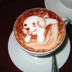 Want to play? Puppy done in coffee
