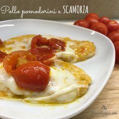 Il pollo pomodorini e scamorza è un piatto velocissimo e saporito, perfetto per i ritardatari , quelli che devono cucinare all'ultimo secondo ...