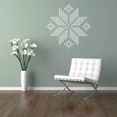 Cross Stitch Wall Stickers