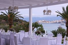 Kim & Daz Wedding by the sea side at Vasia Ormos Hotel Sea Side, Places Ive Been, Weddings, Table Decorations, Furniture, Home Decor, Decoration Home, Room Decor, Wedding