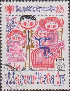 'Family' International Year of the Child stamp [Hungary] 1979