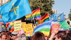 Fiesta del Orgullo Gay en Asturias, España