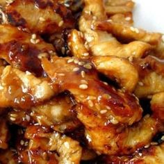 Slow cooker Sesame Chicken - super easy & delicious!