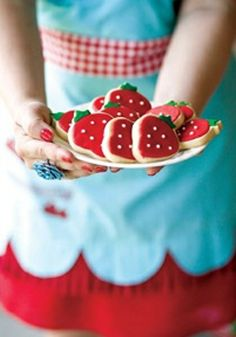 strawberry cookies! :)