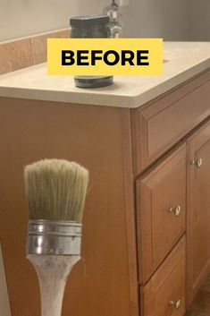 If you don't have the budget for a full bathroom remodeling project, check out this small bathroom makeover idea and paint your cabinet quickly for cheap. This bathroom idea on a budget is something you can easily do and have fun with colors. Quirky Home Decor, Fall Home Decor, Cheap Home Decor, Modern Decor, Luxury Homes Interior, Home Interior Design, Interior Colors, Interior Livingroom, Interior Modern