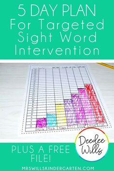 5 day plan to help students master their sight words!