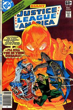 Justice League Of America n°154, May 1978, cover by MW Kaluta, and Al Milgrom.