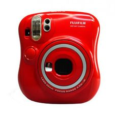 Red Instax Mini Camera 25s by Fujufilm. The Fujifilm Instax Mini 25 (or Cheki 25 in Japan) is a compact, instant film camera that you'll want to take everywhere. Retro styling, and simple operation. Get yours instax Christmas edition camera. http://www.zocko.com/z/JHNJa