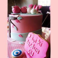 Doğum günü pastası tırtıllı.. Cake :) She bee pasta&kurabiye  She bee cake&cookie