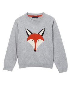 Sophie & Sam Gray Fox Sweater - Infant, Toddler & Boys | zulily