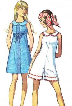1960s Simplicity 8262 Mod Sleeveless A Line Dress by paneenjerez, $12.00