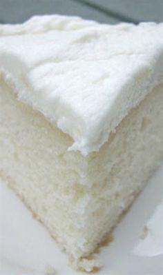 White Almond Wedding Cake Recipe ~ Says: So simple yet full of flavor... truly the BEST white cake recipe! #WhiteCake