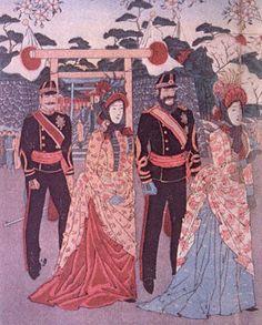 japanese women european clothes | Tras la muerte del emperador Meiji en 1912, el emperador Taishō tomo ...