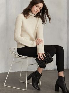 The solution to that whole how to stay warm but still look cute dilemma. The Cordelia Alpaca Sweater is a crop turtleneck with long sleeves and a loose/boxy fit. https://www.thereformation.com/products/cordelia-alpaca-sweater-ivory?utm_source=pinterest&utm_medium=organic&utm_campaign=PinterestOwnedPins