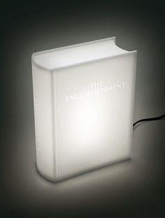 Enlightening book lamp by studiomeiboom