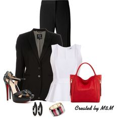 """~FRIDAY @ THE OFFICE~"" by marion-fashionista-diva-miller on Polyvore"