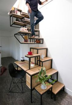 Creative contemporary staircase design. Photo credit: Archi Expo A few monthsago, we posted an article that asked:LADDER vs. STAIRCASE, which would you choose for your Tiny House RV?The overwhelming opinion was that a staircase was preferred, but only if it didn't