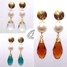 Perlas  cristales  La combinación perfecta  #Zarcillos disponibles en la galería de  @plumadvzla  . Contacto Plumadvzla@gmail.com 0414-6741400 Twitter: @plumadvzla . #Tendencias #DiseñoVenezolano #Accesorios #DirectorioMModa #MModaVenezuela #Venezuela #Designers #Earrings #Fashion #Trends