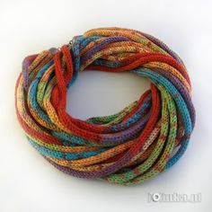 spool knitting collar ( I don't know what Spooling is, but it looks like you could make them with I-cord.)
