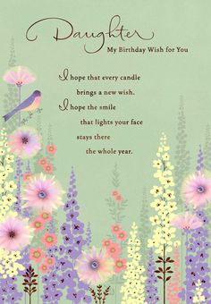 This Ultra Feminine Birthday Card Is Ideal For Any Age A Wish Of Happiness In
