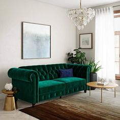 Finnley Sofa Futon Green - Room & Joy Green Rooms, Tufted Couch Living Room, Living Space Decor, Living Room Green, Living Room Sofa, Green Sofa Living Room, Couches Living Room, Futon Sofa, Room