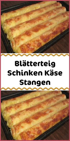 Blätterteig Schinken Käse Stangen Ingredients 1 pck puff pastry from the fridge rectangular 200 g sour cream 80 g diced diced 100 g cheese grated … Lava Cake Recipes, Lava Cakes, Dessert Recipes, Snacks Pizza, Snacks Für Party, How To Cook Ham, Puff Pastry Recipes, Party Buffet, Ham And Cheese