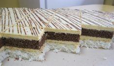 Kokosovo karamelové rezy., recept, Zákusky | Tortyodmamy.sk Vanilla Cake, Tiramisu, Cooking, Ethnic Recipes, Sweet, Gardening, Cakes, Recipe, Chef Recipes