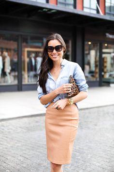 Weekday Chic - Rails LA shirt c/o // DVF skirt Stuart Weitzman heels // Clare Vivier clutch Celine sunglasses // Dogeared necklace Tuesday, April 7, 2015