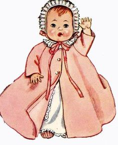 "Doll Clothes PATTERN for 19"" Ginette Tiny Tears Dydee1950s dolls 2261"