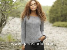 """Misty Harbor Cardigan / DROPS 171-23 - Knitted DROPS jacket, worked top down with raglan and textured pattern in """"Kid-Silk"""". Size: S - XXXL. - Free pattern by DROPS Design"""