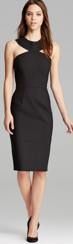 Cynthia Steffe #vestido #tubinho #decote #preto