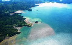 Flying over the gulf of Golfo Dulce to get to Playa Nicuesa Rainforest Lodge in southern Costa Rica (photo by Shannon Farley).