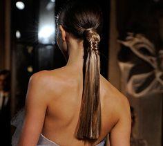 """""""elegant"""" ponytail"""