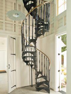 Iron Spiral Stairs | Interior Design | Staircase Ideas