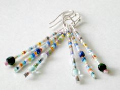 Glass Bead Multi Color Size Shape Earrings (Anarchy) by CharmedThings on Etsy ($12.)