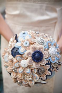 Ramo de novia handmade en fieltro
