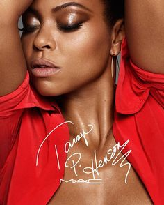 So excited to share this! My @MACcosmetics collection is coming! Online & at select stores in Sept. #MACTaraji #VirgoSeason 💋💋💋