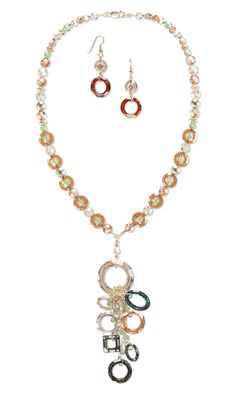 Single-Strand Necklace and Earring Set with Swarovski Crystal