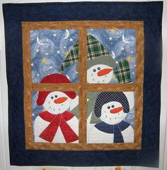 Snowman quilt by liz h2, via Flickr