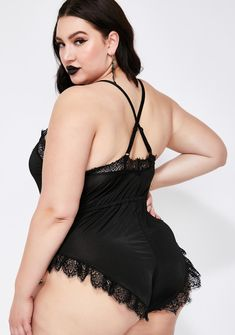 Widow Plus Size Lace Romper Black Plus Size Concert Outfits, Rose Choker, Black Lace Romper, Lace Bodysuit, Lace Bra, Skater Dress, Vegan Leather, Black Tops, Rompers