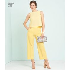 We love this yellow outfit for a summer dinner date #newlook6459 #simplicitypatterns