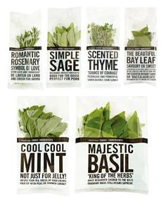 Herbs packages that can make good posters