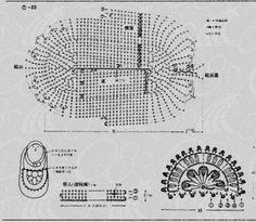 Genevive Hunter Design - crochet toddler Mary Jane shoes pattern diagram