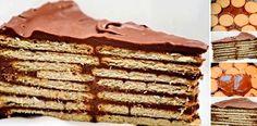 Qué sencillita!!! Y qué buena pinta!! esta TARTA DE GALLETAS CON CHOCOLATE, Si te gusta dinos HOLA y dale a Me Gusta MIREN… | Receitas Soberanas