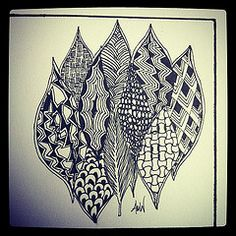 A feather zentangle...